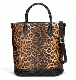 Brighton Rumi Tall Tote Cheetah/Black