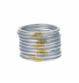 BuDhaGirl Silver All Weather Bangles-Medium