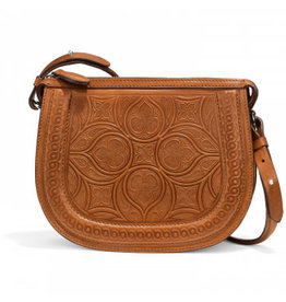 Brighton Cognac Bordo Saddle Bag