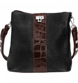 Brighton Joe Bucket Black Brown Handbag