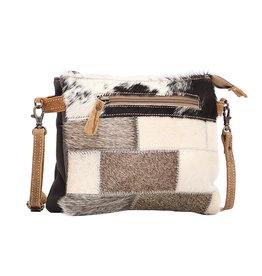 Mosaic Crossbody Leather Bag