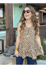 Leopard Print Layered Ruffle Top