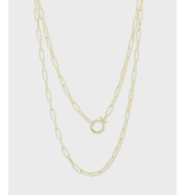 Gorjana Parker Wrap Long Necklace Gold