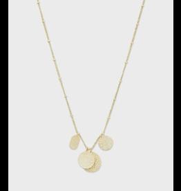 Gorjana Banks Mixed Coin Necklace - Gold