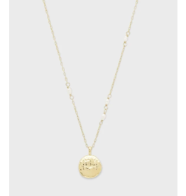 Gorjana Reese Pearl Charm Necklace Gold