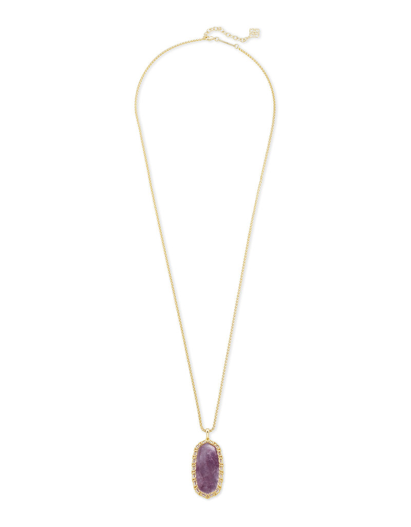 Kendra Scott Macrame Reid Necklace in Purple Mica on Gold