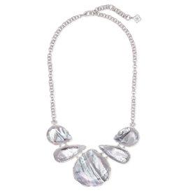 Kendra Scott Kenzie Statement Necklace in Ivory MOP on Silver