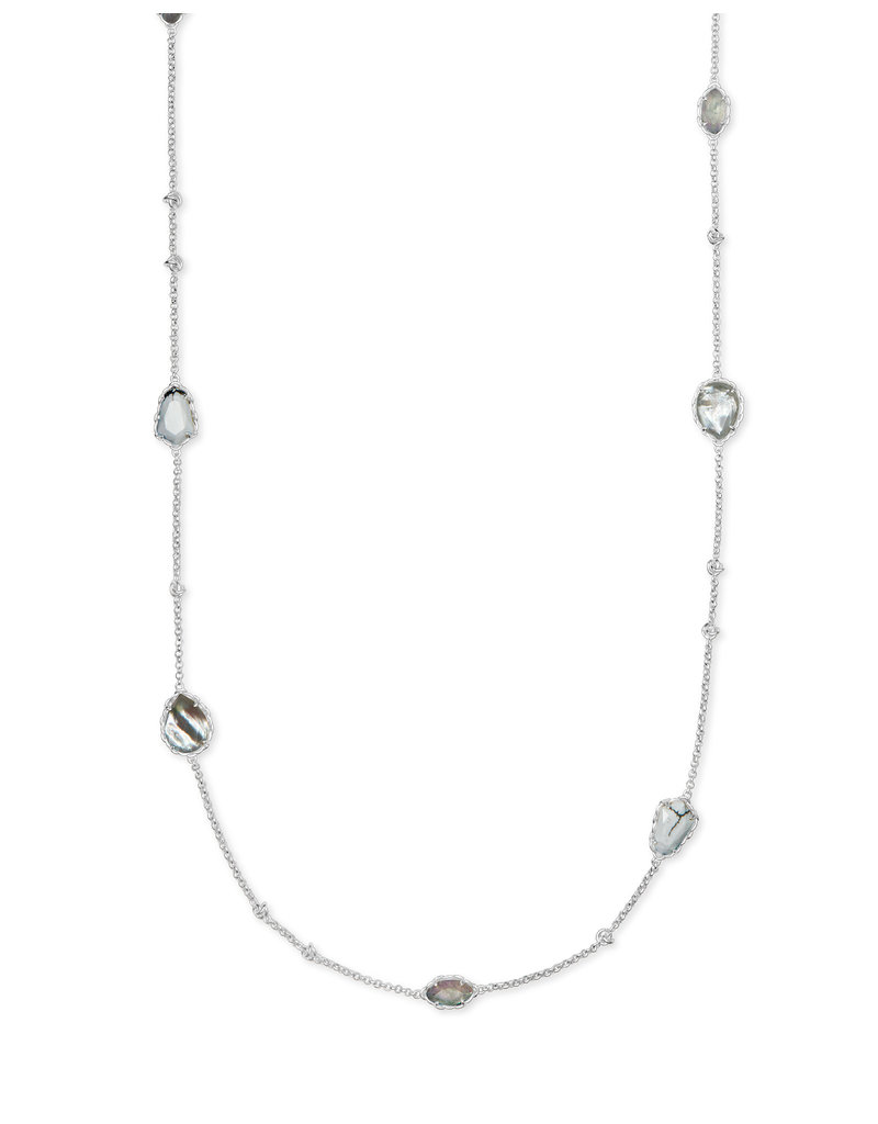 Kendra Scott Gwenyth Long Strand Necklace White Mix on Silver