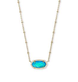Kendra Scott Elisa Satellite Necklace Turq Opal on Gold