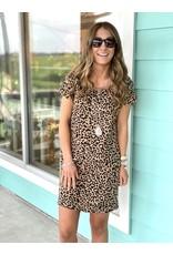 Leopard Knit Dress w/ Pockets