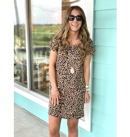 Leopard Knit Dress w/ Pockets