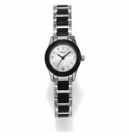 Brighton Silver & Black Baby Brooklyn Watch