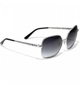 Brighton Astrid Silver/Black Sunglasses