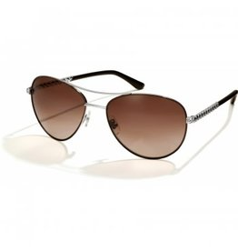 Brighton Helix Chocolate & Silver Sunglasses