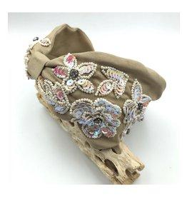Treasure Jewels Flower Nude Headband