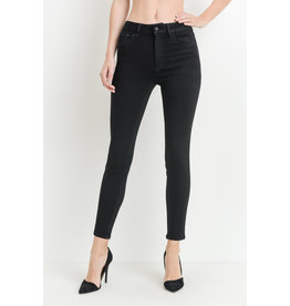 Just Black Denim High Rise Skinny Black