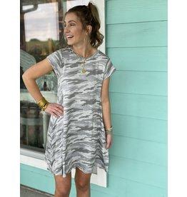 Grey/White Camo Dress