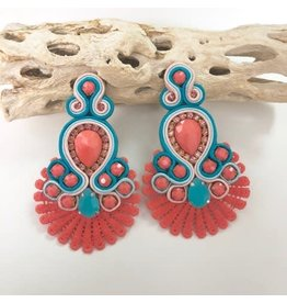 Treasure Jewels Sammy Coral Earrings