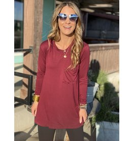 Noah Pinot Maroon Long Sleeve Top