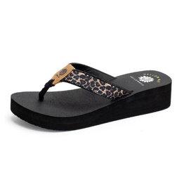 Yellow Box Lereen Leopard Sandals