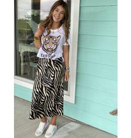 Black Tiger Stripe Skirt