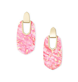 Kendra Scott Kailyn Statement Earring Coral Illusion on Gold