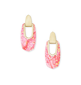 Kendra Scott Kailyn Drop Earring in Coral Illusion on Gold