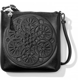 Brighton Keely Embroidered Crossbody - Black