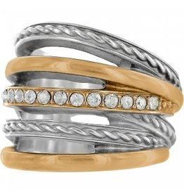 Brighton Neptune's Rings Ring Two-Tone Size 8