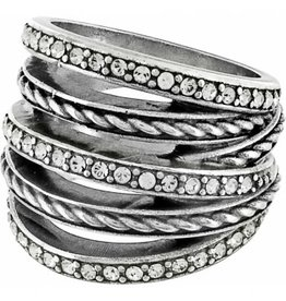 Brighton Neptune's Rings Ring Silver Size 7