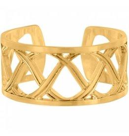 Brighton Christo Sydney Gold Narrow Ring