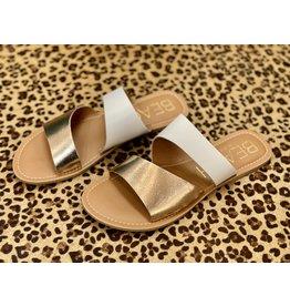 Matisse Coastal Gold & White Sandal