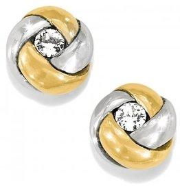Brighton 2-Tone Love Me Knot Mini Post Earrings