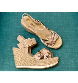 Oaten Snake/Natural Wedge Sandal