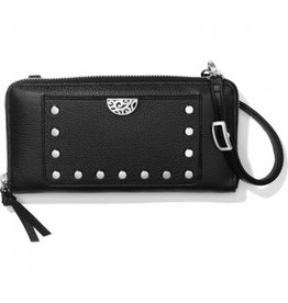 Brighton Black Pretty Touch Rox Large Zip Wallet