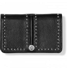 Brighton Black Pretty Tough Medium Zip Wallet
