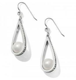 Brighton Chara Ellipse Spin Pearl Earrings