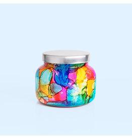 Volcano Large Rainbow Watercolor Jar