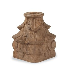 Wood Carved Candle Holder