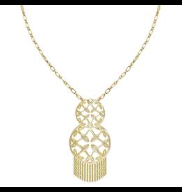 Natalie Wood Grace Tassel Pendant Necklace- Gold