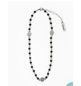 MSMH Blessing Choker & Wrap Bracelet - Black/Silver