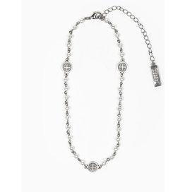 MSMH Blessing Choker & Wrap Bracelet - Pearl/Silver