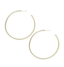 Natalie Wood Large Beaded Earrings - gold