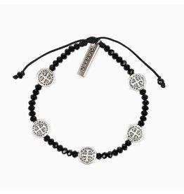 MSMH Gratitude Blessing Bracelet - Black/Silver