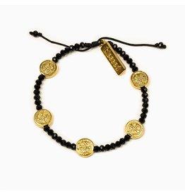 MSMH Gratitude Blessing Bracelet - Black/Gold