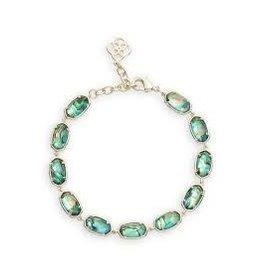 Kendra Scott Grayson Link Bracelet Gold Abalone Shell