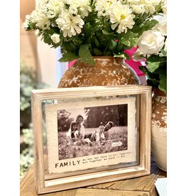4 x 6 Glass Wood Family Frame