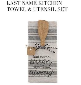 Last Name Towel Wood Utensil