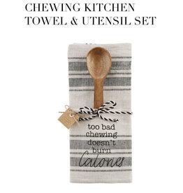 Chewing Towel Wood Utensil Set