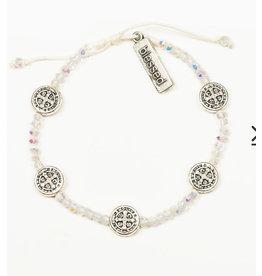MSMH Gratitude Blessing Bracelet - Crystal / Silver